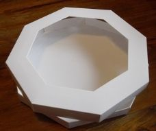 8 x 8 Octagon Aperture Greeting Card Box with Card Blanks & Acetate